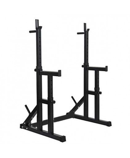 Adjustable Squat Rack Stand with Spotters