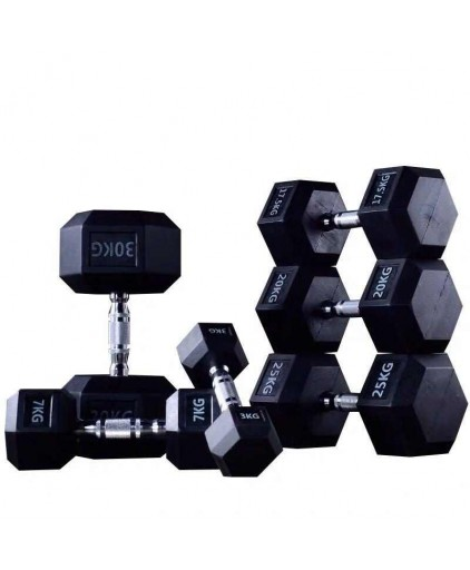 Prograde Rubber Hex Dumbbell