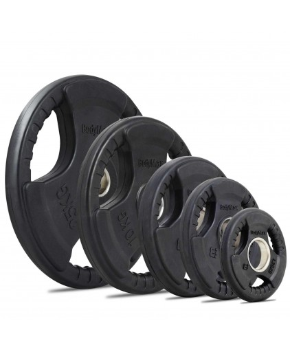 Tri-grip PU Rubber Coated  Weight Plates (1.25KG to 20KG) - Olympic Size