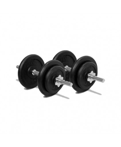 SET A RUBBERISED PROGRADE DUMBELL SET (18KG)