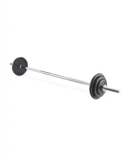 SET D RUBBERISED PROGRADE BARBELL SET (42.5KG)