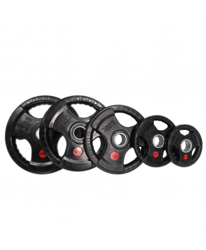 Aspire Tri-grip Olympic Rubber Coated  Weight Plates (2.5KG to 20KG)