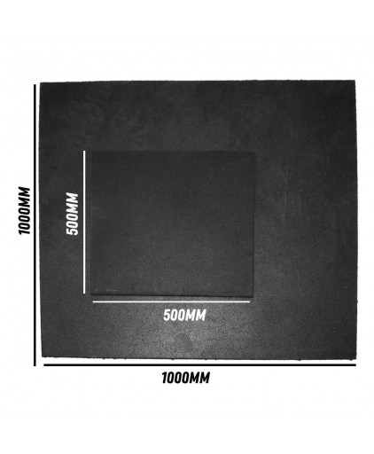 Prograde 1000 x 1000 x 15mm  Rubber Gym Mat